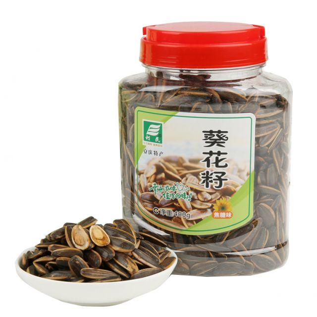 安庆特产 利民焦糖味葵瓜子400g*2罐 坚果零食