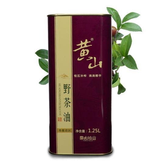 黄山野茶油1250ml 有机木本植物油 物理压榨 铁罐装