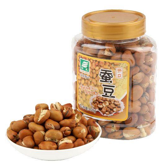 安庆特产 利民开口蚕豆350g罐装 坚果零食